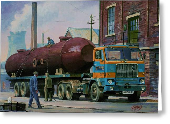 Stillers Volvo F88 Greeting Card by Mike  Jeffries