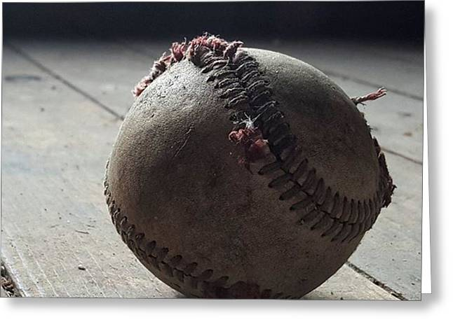 Baseball Still Life Greeting Card by Andrew Pacheco