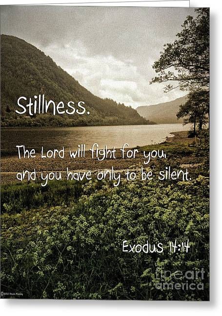 Stillness Greeting Card by Beauty For God