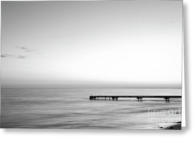 Greeting Card featuring the photograph Stillness In Black And White by Ivy Ho