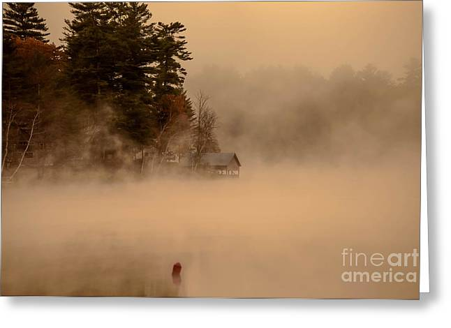 Stillness Of Autumn Greeting Card by Sherman Perry
