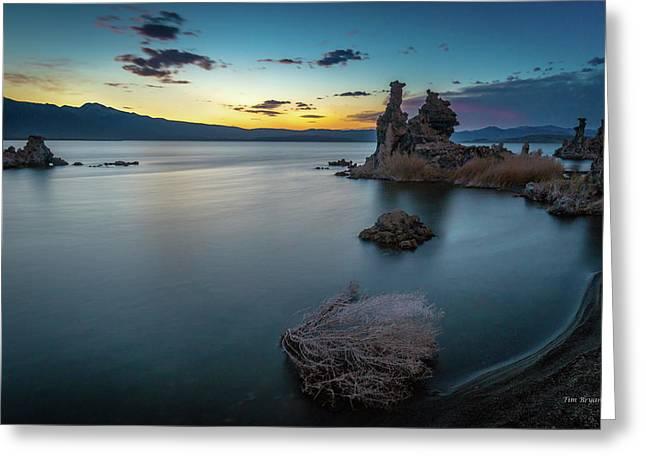 Greeting Card featuring the photograph Stillness...mono Lake by Tim Bryan