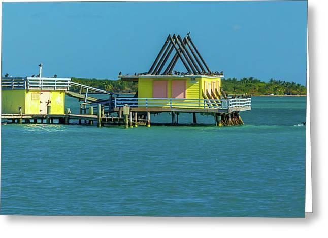 Stiltsville/ Cape Florida Lighthouse  Greeting Card