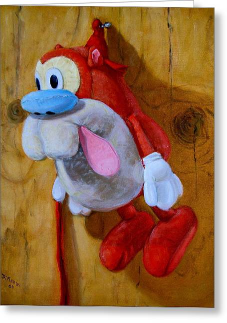 Greeting Card featuring the painting Stimpy by Donelli  DiMaria