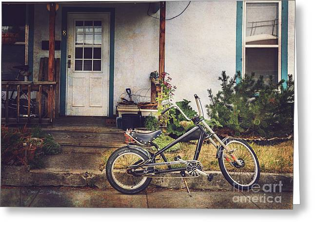Sting Ray Bicycle Greeting Card by Craig J Satterlee