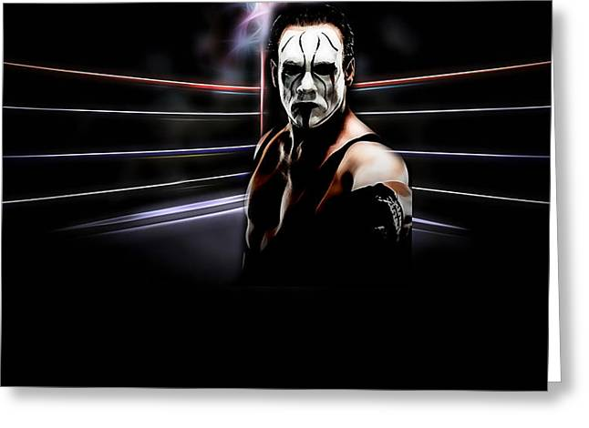 Sting Steve Borden, Sr. Wrestling Collection Greeting Card
