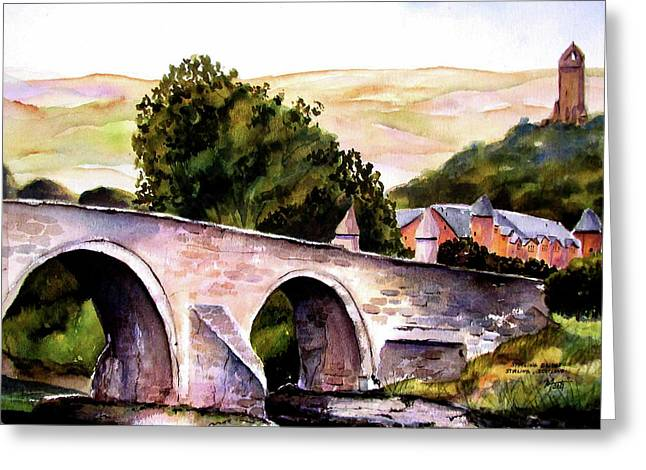 Greeting Card featuring the painting Stirling Bridge by Marti Green