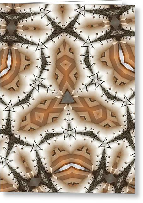Greeting Card featuring the digital art Stitched 2 by Ron Bissett