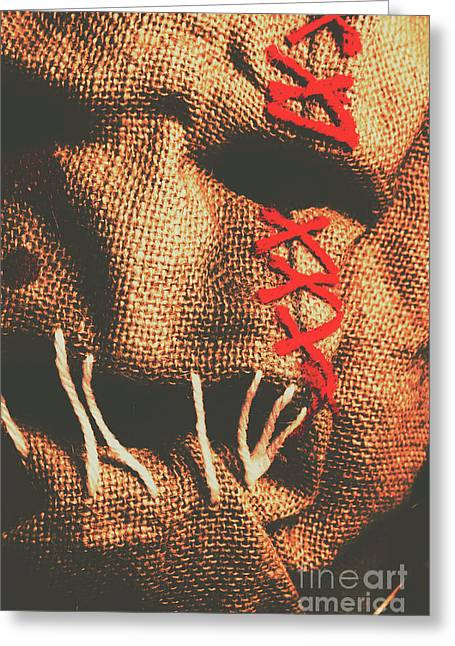 Stitched Up Madness Greeting Card by Jorgo Photography - Wall Art Gallery