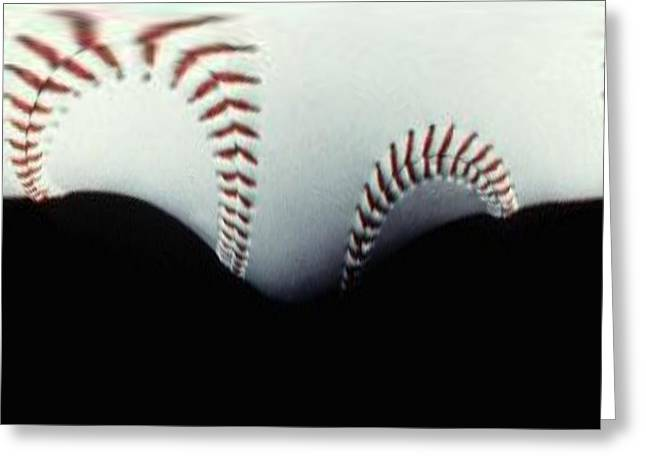 Stitches Of The Game Greeting Card by Tim Allen
