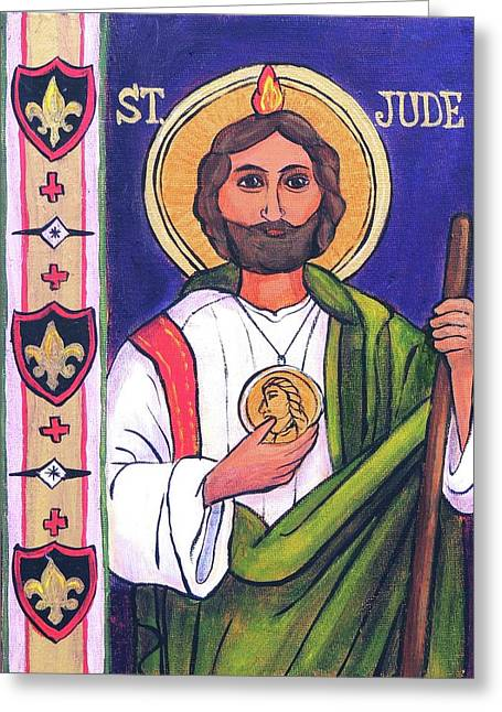 St.jude Greeting Card by Candy Mayer