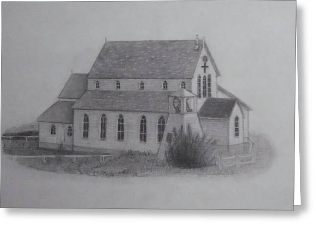 St.margarets Anglican Church Change Islands Greeting Card by Tonya Hoffe