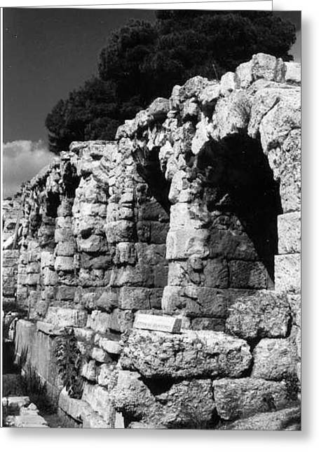Stoa Of Eumenes Athens Greeting Card by Susan Chandler
