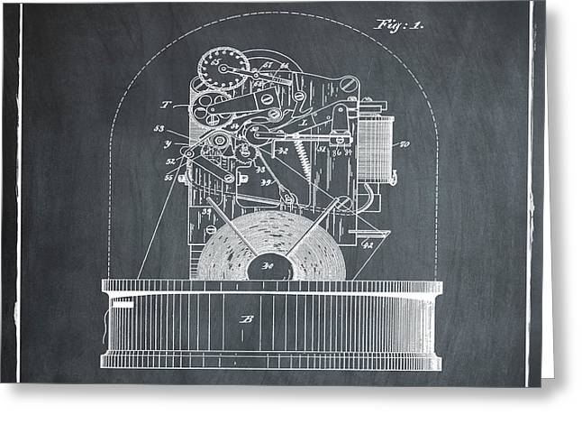 Stock Ticker Patent 1897 Chalk Greeting Card