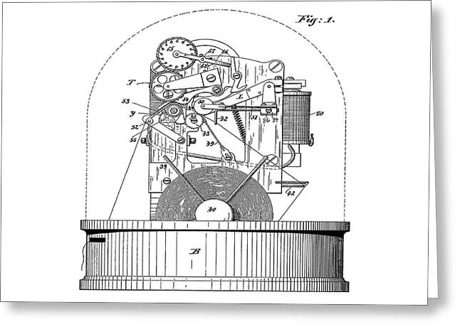 Stock Ticker Patent 1897 Greeting Card