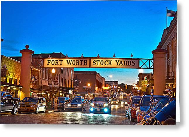 Stock Yards Greeting Card by Dado Molina