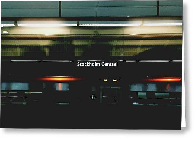 Stockholm Central- Photograph By Linda Woods Greeting Card