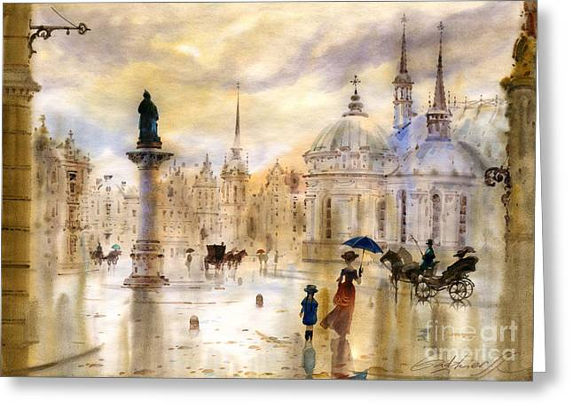 Stockholm II Greeting Card by Svetlana and Sabir Gadghievs