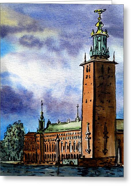 Stockholm Sweden Greeting Card by Irina Sztukowski