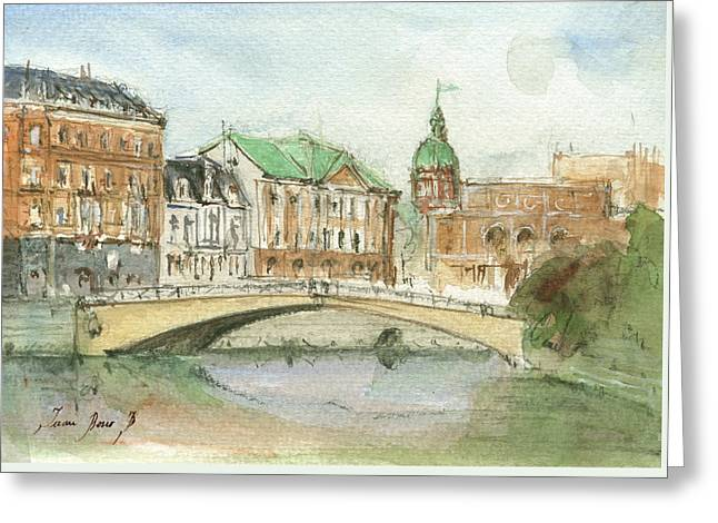 Stockholm Sweden Greeting Card by Juan Bosco