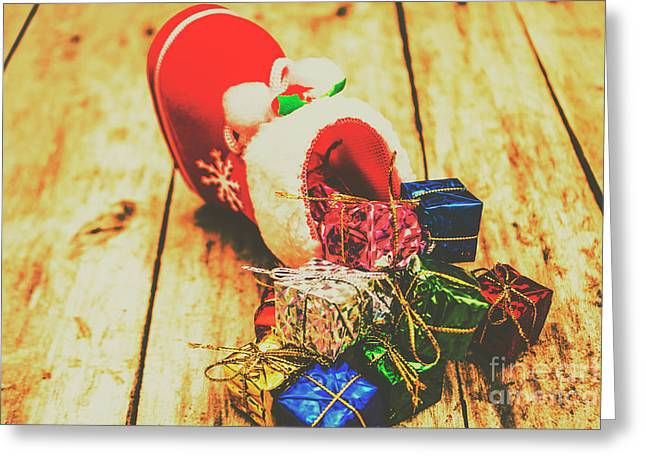 Stocking Up For Christmas Greeting Card by Jorgo Photography - Wall Art Gallery