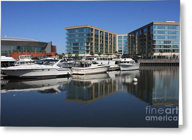 Stockton Waterscape Greeting Card by Carol Groenen