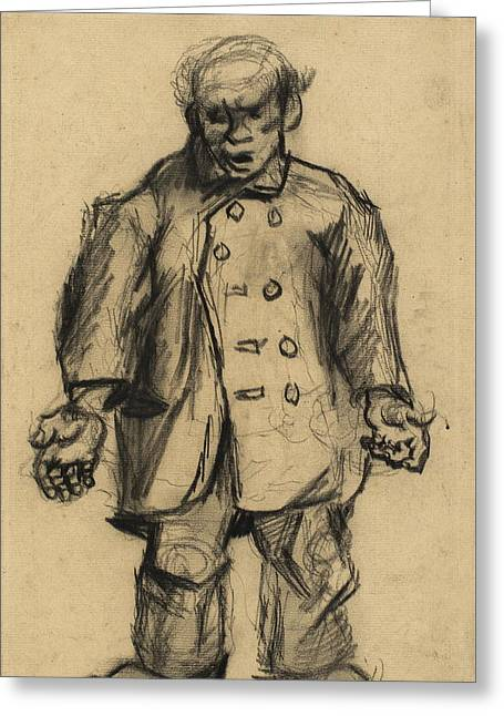 Stocky Man, 1885 01 Greeting Card by Vincent Van Gogh
