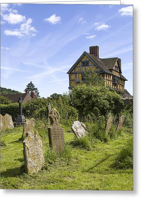 Stokesay Castle Gatehouse Shropshire England Greeting Card
