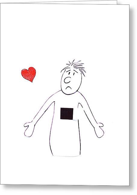 Stolen Heart Greeting Card