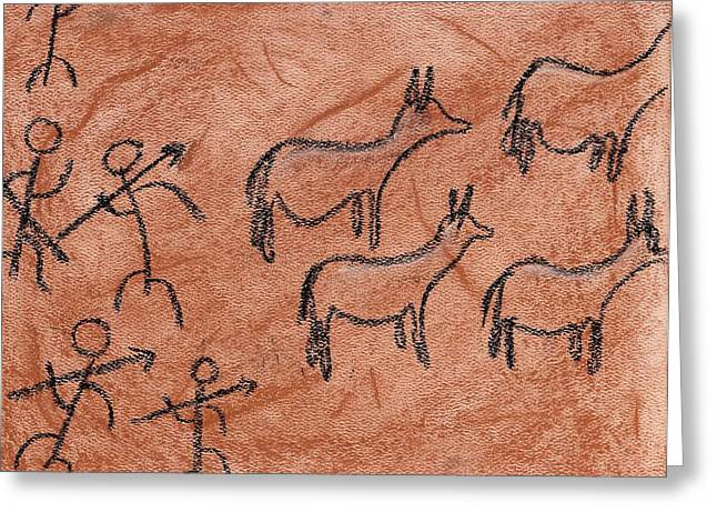 Stone Age Hunt Greeting Card