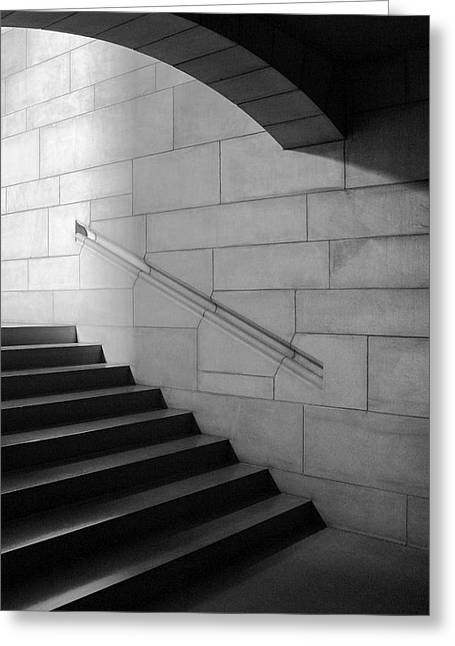 Stone And Steps Greeting Card by Donald Schwartz