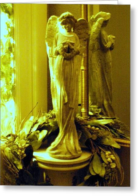 Stone Angel Greeting Card by Christine Sullivan Cuozzo