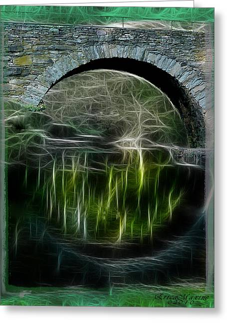 Greeting Card featuring the photograph Stone Arch Bridge - Ny by EricaMaxine  Price