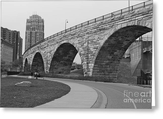 Stone Arch Bridge Greeting Card by Alice Mainville