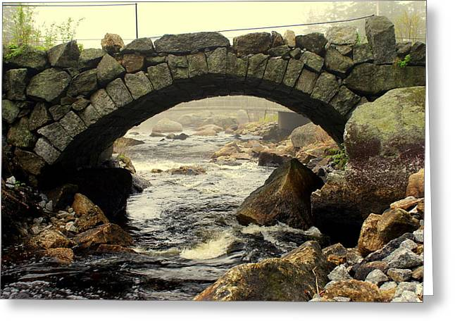 Stone Arch Up Close Greeting Card by Lois Lepisto
