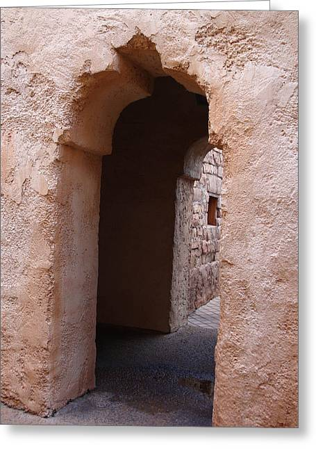 Stone Arches Greeting Card by Kim Chernecky