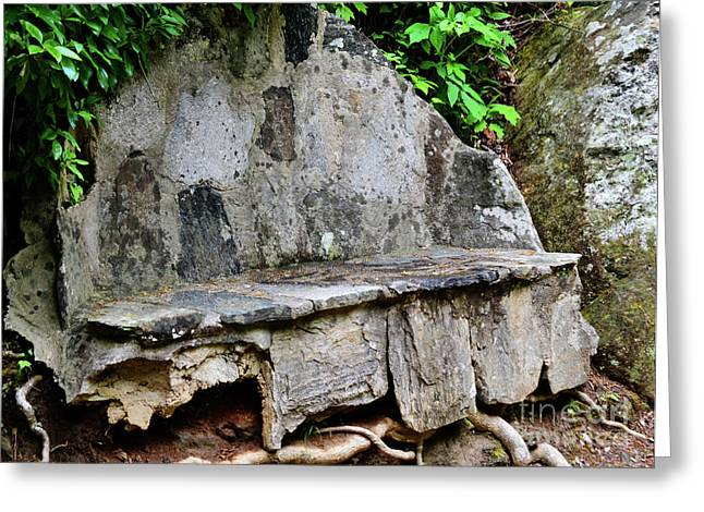 Stone Bench Two Greeting Card