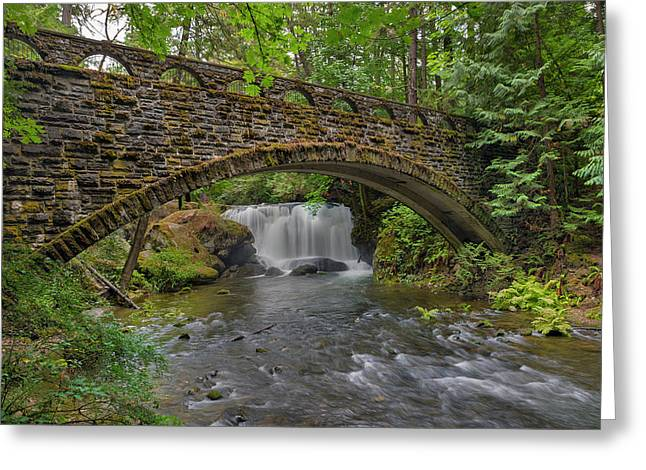 Stone Bridge At Whatcom Falls Park Greeting Card
