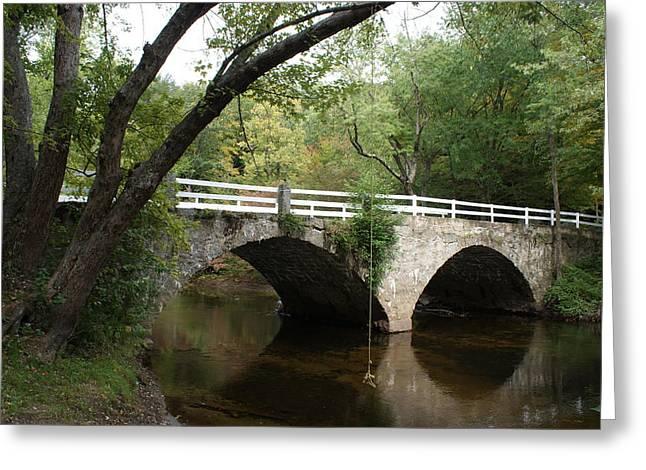 Stone Bridge Greeting Card by Lois Lepisto