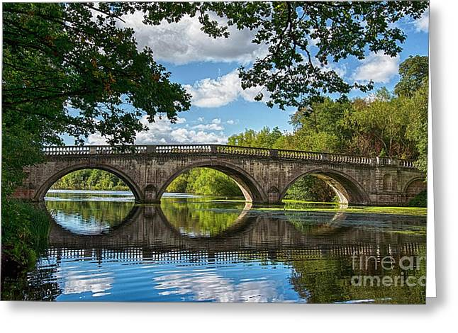 Stone Bridge Over The River 590  Greeting Card