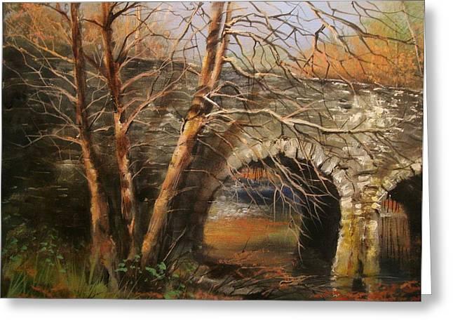 Stone Bridge Greeting Card by Tom Shropshire