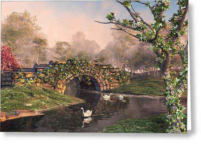 Stone Bridge Two Greeting Card by Mary Almond