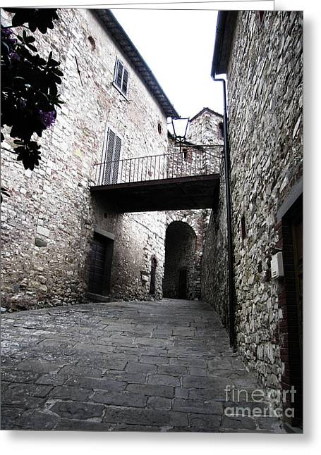 Stone Building In Radda Greeting Card