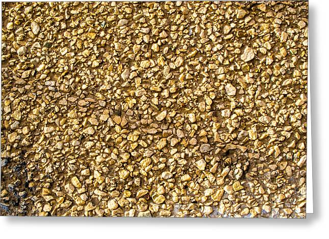 Stone Chip On A Wall Greeting Card by John Williams