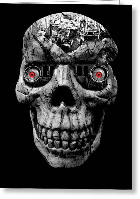 Stone Cold Jeeper Cyborg No. 1 Greeting Card