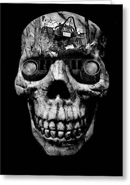 Stone Cold Jeeper Cyborg Tj Wrangler No Red Eyes Greeting Card