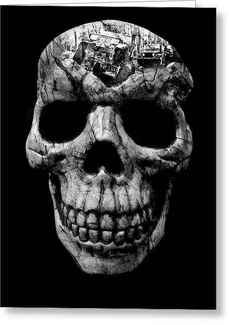 Stone Cold Jeeper Skull No. 1 Greeting Card