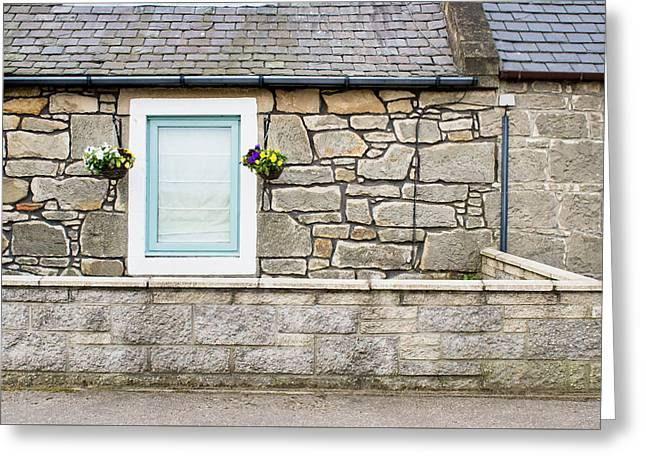 Stone Cottage Greeting Card by Tom Gowanlock