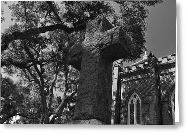 Stone Cross Greeting Card by James Luce