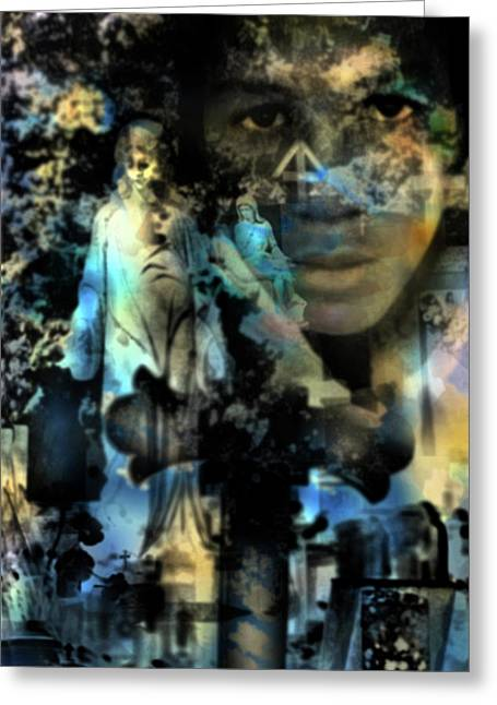 Stone Crosses And Death Angels - Trayvon Martin Greeting Card